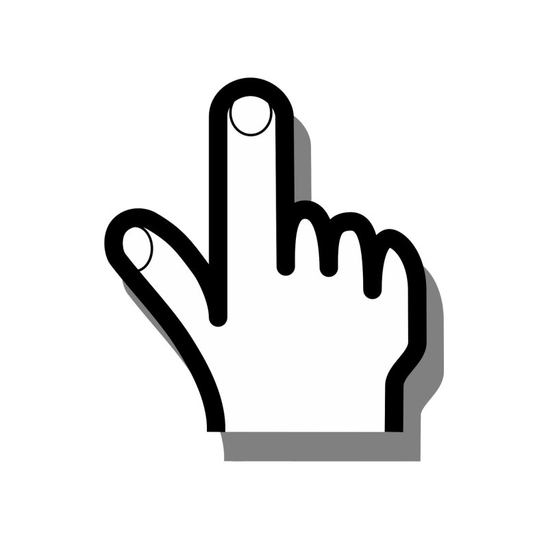 image of hand with pointer finger up